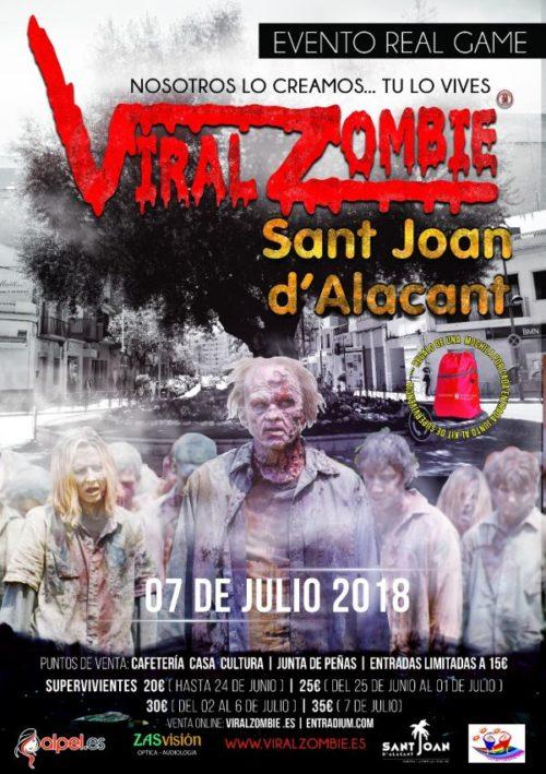 ENTRADAS VIRAL ZOMBIE 7 JULIO 2018 SAN JUAN (ALICANTE)
