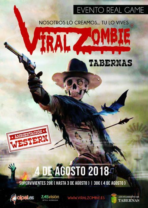 ENTRADAS VIRAL ZOMBIE **WESTERN** 4 AGOSTO 2018 TABERNAS (ALMERÍA)